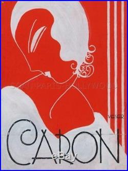 MARGUERITE VESER GOUACHE ORIGINALE PARFUMS CARON 1930s ART DECO