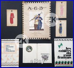 MODE Fashion ART DECO Belle Epoque Luxe Elégance Parisienne 7 Documents 1920/30s