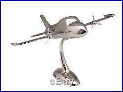 Maquette d´avion aluminium style Art déco argenté 58 cm