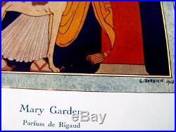 Mary Garden Parfum de Rigaud Planche publicitaire George Barbier 1913