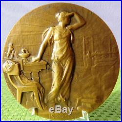Médaille bronze Centenaire de l' Académie Mèdecine 1820/1920 Art Déco P. RICHER