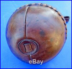 Medecine Ball, ballon en cuir avec poignée art déco voir antérieur TRÈS RARE
