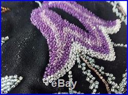 Minaudière sac à main Art Déco broderie perles et monture bakélite 13790