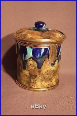 Nécessaire de fumeur en céramique époque art déco de Louis Auguste Dage