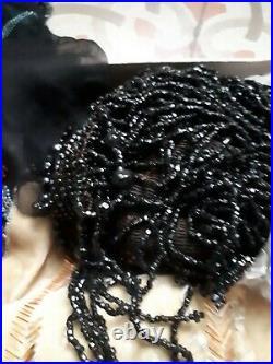 Old textile costume ancien embroidery broderie soie art deco Lanvin Lesage 20e