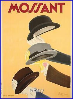 Original Art Deco Vintage Poster Cappiello Leonetto Mossant Hats 1938