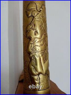 Paire De Douilles Sculptées Art Des Tranchés déco soldat