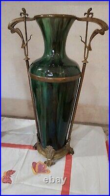 Paires d'anciens grands vases Art Déco/ Art Nouveau céramique Hauteur 54 cm