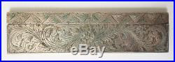 Peigne de voyage de sac en ARGENT ciselé Italie vers 1930 silver comb
