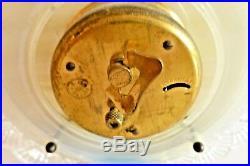 Pendulette Bayard 8 Jours Art Deco En Albatre Et Verre Opalescent E/eb