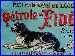 Petrole Fides Eclairage-tôle Litho Ancienne