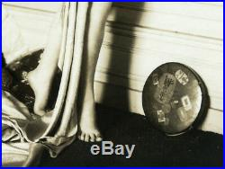 Photo circa 1930 art deco orientaliste sweet woman long hair femme curiosa