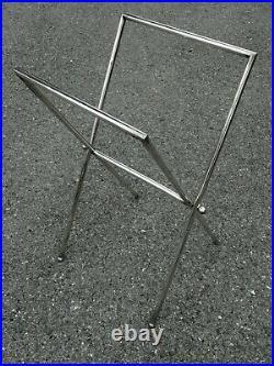 Piètement pliant art déco Porte plateau revue adnet Rack magazinetable tray