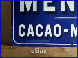 Plaque émaillée JAPY Chocolat MENIER Art Populaire Art publicitaire Deco Loft