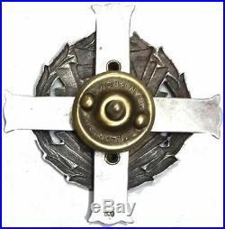 Pologne art déco argent 800 badge médaille badge sirène 2 ° Grupa Artylerii WWII