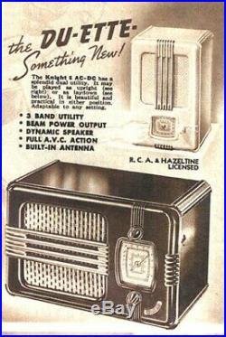 Poste radio américain Mantola radio 1937 art déco
