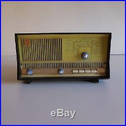 Poste radio bakélite Philips art déco 1950 vintage XXe France