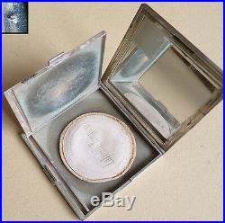 Poudrier argent massif silver powder box Vers 1930 Art Deco 177,5 g