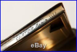 Poudrier signé CARTIER Paris v 1925 ART DECO argent + émail + laque + émeraude