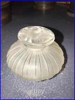 RARE FLACON R. LALIQUE dit à cotes PAPILLON 1911 art déco no vase