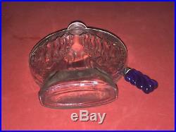 RARE Flacon Art-Déco de Parfum Toujours Moi de Corday Bouchon Verre Bleu 1930s