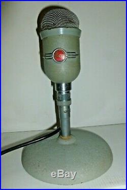 RARE MICROPHONE PHILIPS 9585 ART DECO AVEC SON SOCLE années 50'