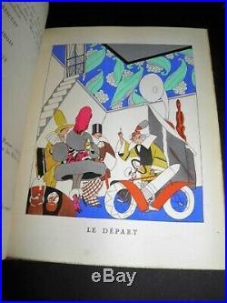 RIP Plus ça Change GRAVURES Aquarellées POCHOIR ZYG BRUNNER RAIMU 1922 ART DECO