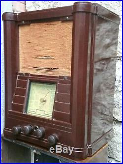 Radio TSF art déco Monopole C157 des années 1936 en bakélite