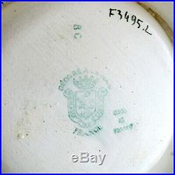 Rare EMAUX de LONGWY Cendrier Ancien PILLARD MAZOUT GAZ Art Déco Publicitaire