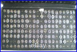 Rare Lot De 560 Anciens Monogrammes Initiales Art Deco En Argent Massif