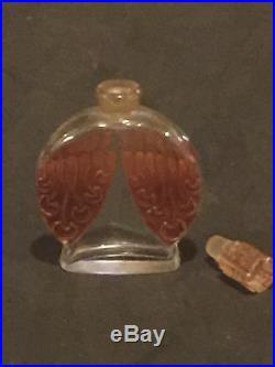 Rare Magnifique Flacon Art-Déco 1920 Toujours Moi de Corday Avec Patine Orange