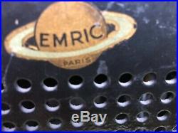 Rare Poste TSF EMRIC Chevalier Paris modèle Art Déco ref 638 fabriqué en 1938 TB