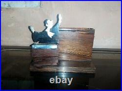 Rare boite cigarette de table Avocat Art Déco signé Sudre à restaurer
