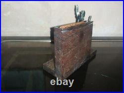 Rare boite cigarette de table Avocat Art Déco signé Sudre à restaurer 1930's