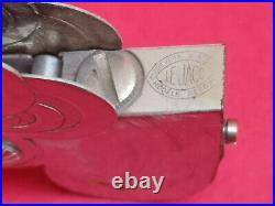 Rare briquet automatic art deco Le Jaco 1942 Lighter métal chromé Bel état
