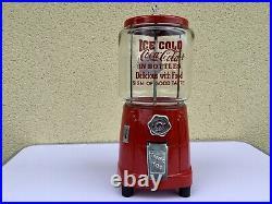 Rare distributeur de bonbons cacahuètes atlas deluxe 1930 art Deco Thème Coca