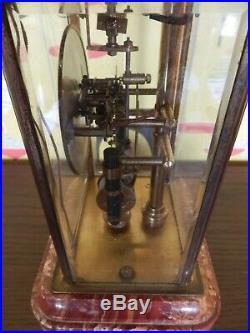 Rare pendule horloge art déco bulle clockette marbre laiton électromagnétique