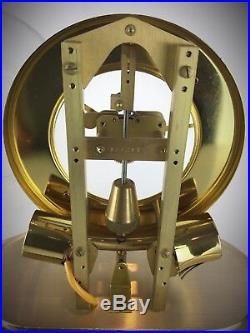 Rare pendule squelette cloche verre Léon Hato Ato vintage Art Déco fonctionne