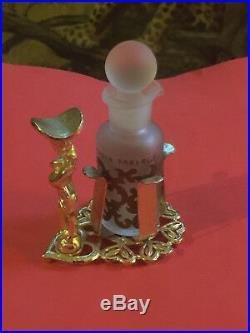 Rarissime Ancien Flacon Aphrodisia de Fabergé (1932) Sur Son Support Art Déco
