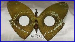 Rarissime Cadre Photo Papillon Travail De Poilus 1914 -18 Militaria
