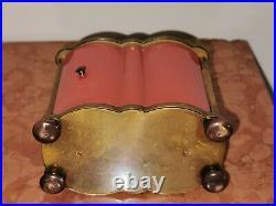 Réveil Jaz de luxe Le Ridic Corail Japonais 11 rubis laqué & ciselé 1958 Suisse