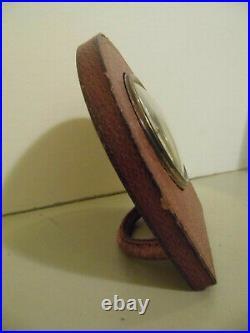 Réveil Pendulette Cuir Longchamp Art Déco