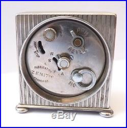 Réveil pendule bureau pendulette ZENITH Art Déco vers 1925 watch foncionne