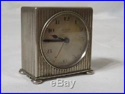 Réveil pendule de bureau pendulette ZENITH Art Déco vers 1925 watch