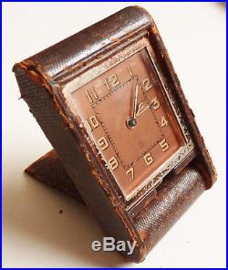 Réveil pendulette de voyage JAEGER LECOULTRE Swiss pendule clock orologio