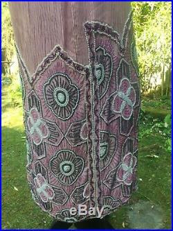 Robe Ancienne Art Déco Epoque 1920 Charleston Broderie de Perles Années Folles