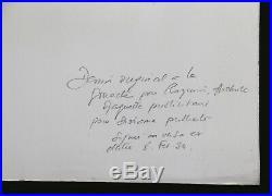 Robert ROQUIN (XX) affichiste maquette Diorama publicité gouache 1934 art deco