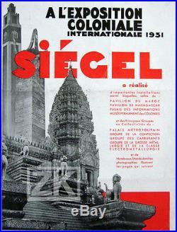 SIEGEL Art Deco MANNEQUIN Mode IMANS Exposition Coloniale René HERBST Paris 1931