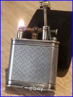 SUPERBE Briquet Dunhill essence PETROL LIGHTER FEUERZEUG ART DECO