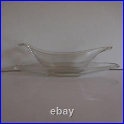 Saucière verre art déco table PYREX collection antiquité objet XXe France N3759